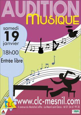 Audition école de musique